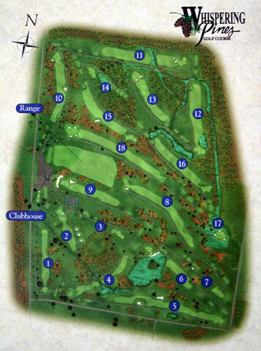 Image of golf course map