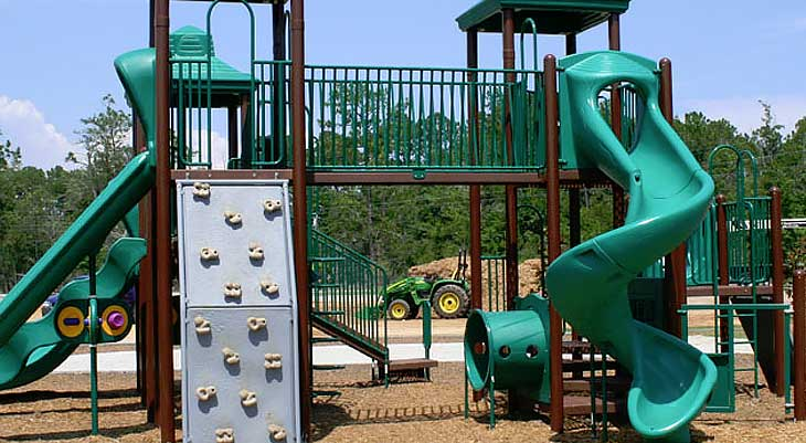 Image of a jungle gym