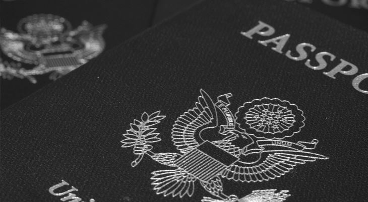Upclose image of passports