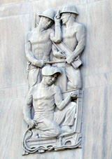 Courthouse Carving of Industry Workers